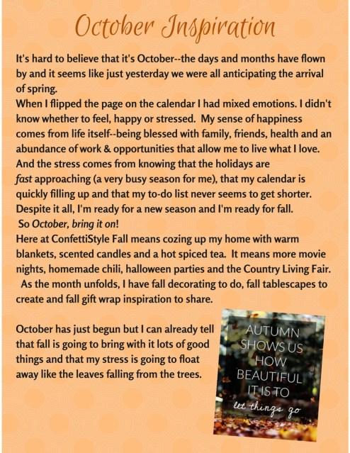 October Inspiration Notebook 2016