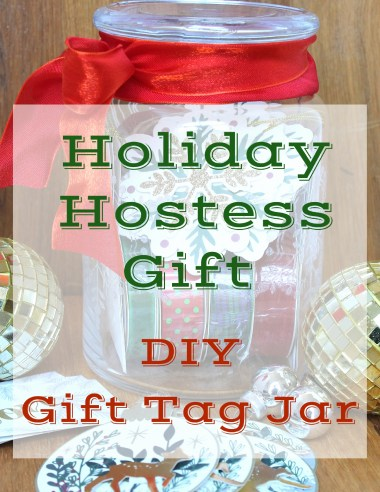 Holiday Gift Tag Jar by ConfettiStyle
