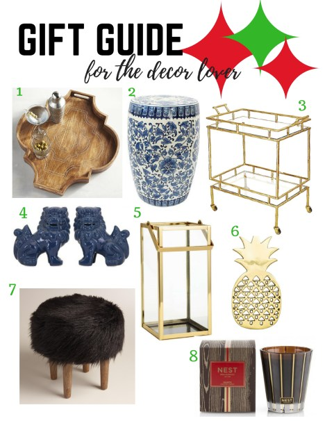 2016 Holiday Gift Guide for Decor Lovers