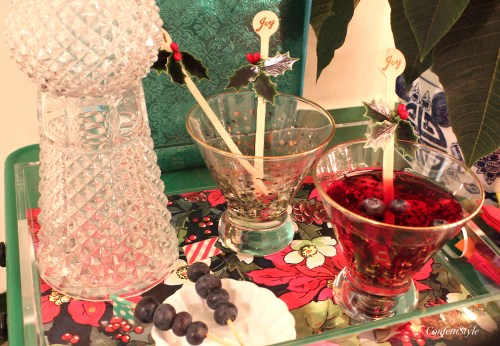 Holiday Bar Cart by ConfettiStyle