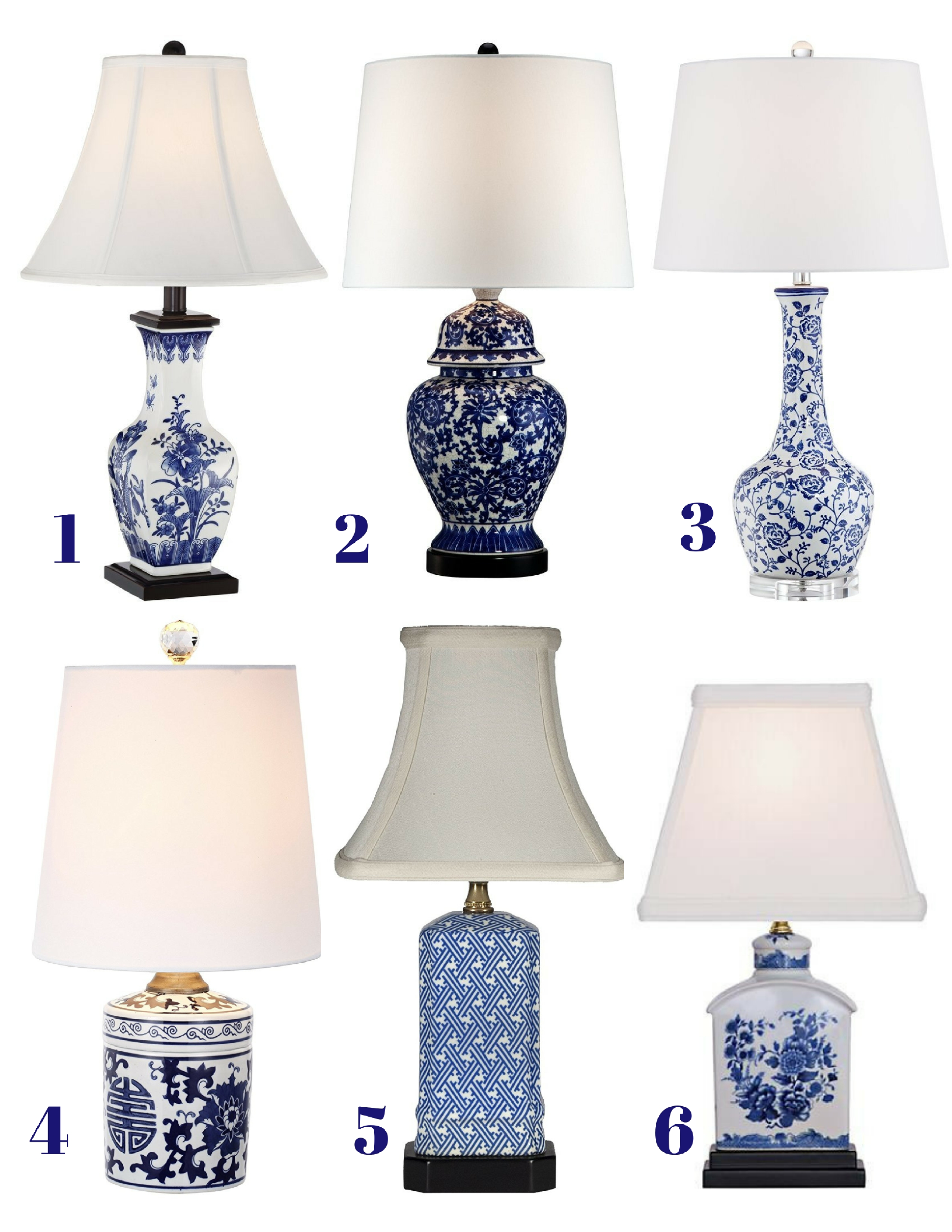 Table lamps archives confettistyle budget friendly blue and white table lamps under 100 geotapseo Image collections