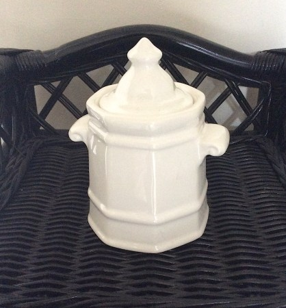 Vintage Ironstone Sugar Container