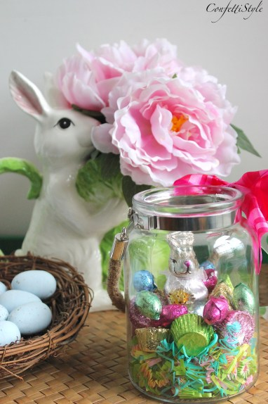 DIY Easter Candy Jar by ConfettiStyle
