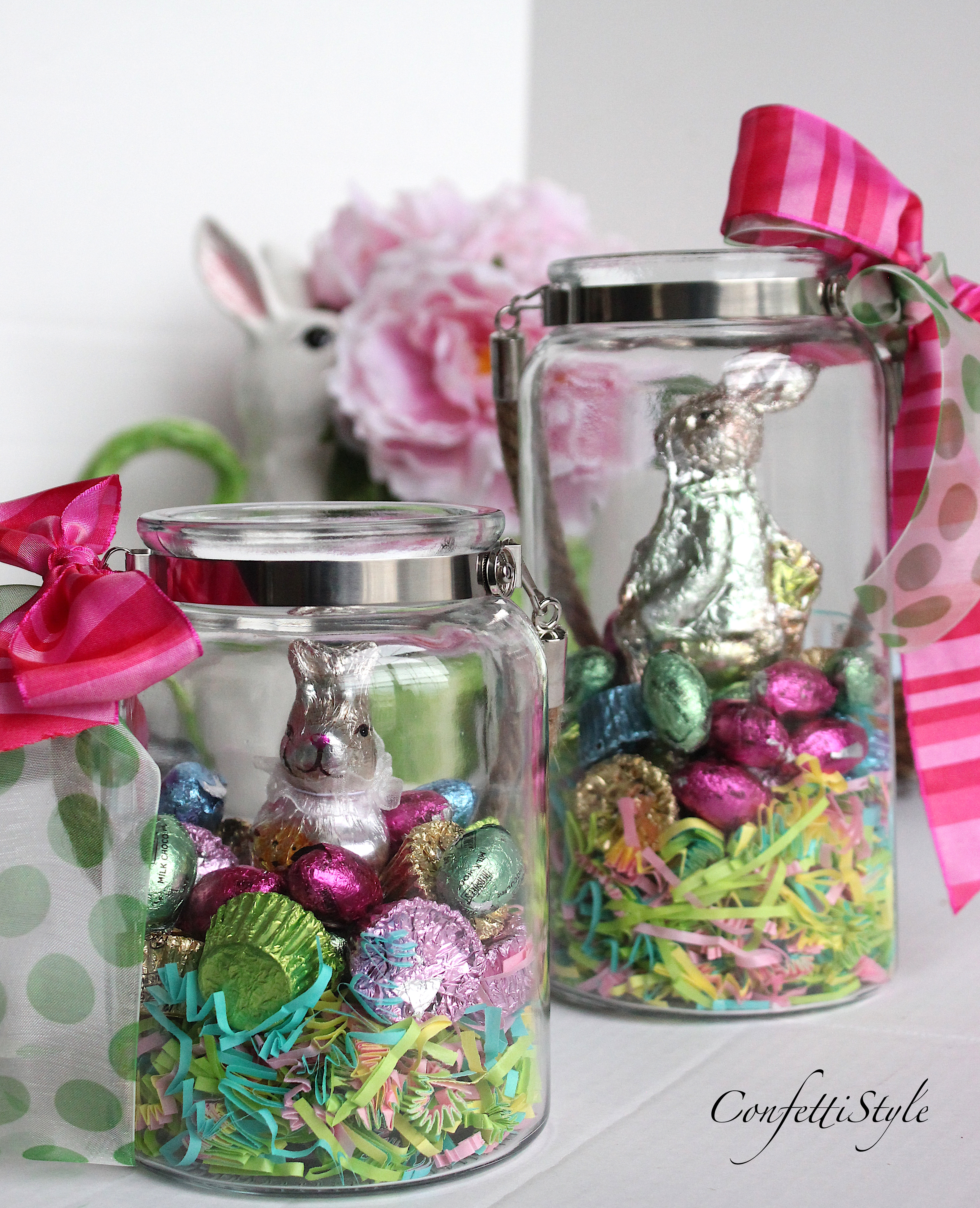 Diy easter candy jars easter gift idea confettistyle diy easter candy jar by confettistyle negle Image collections