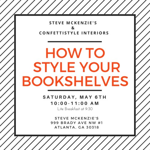 Bookshelf Styling Workshop at Steve McKenzie's