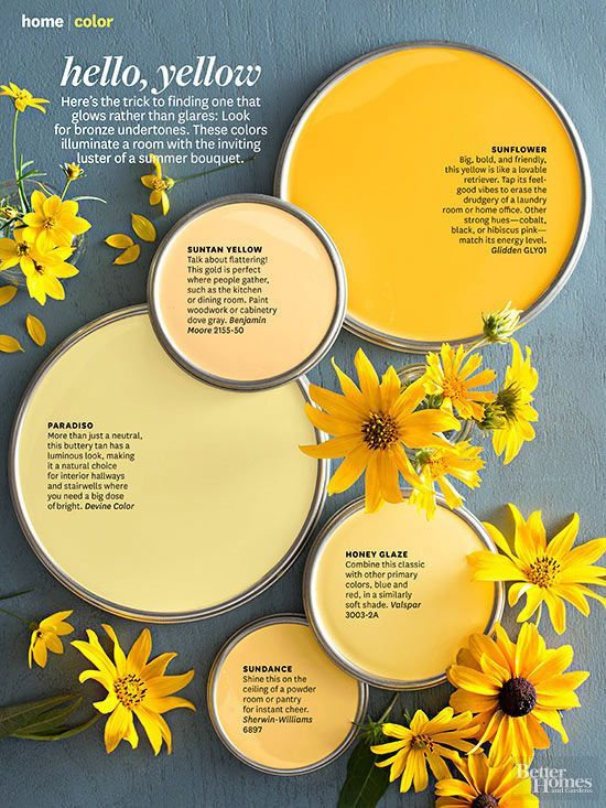 Color crush decorating with yellow confettistyle for Metallic yellow paint