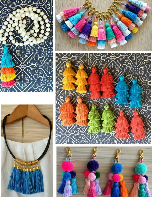 Tassel Jewelry and Accessories on Etsy