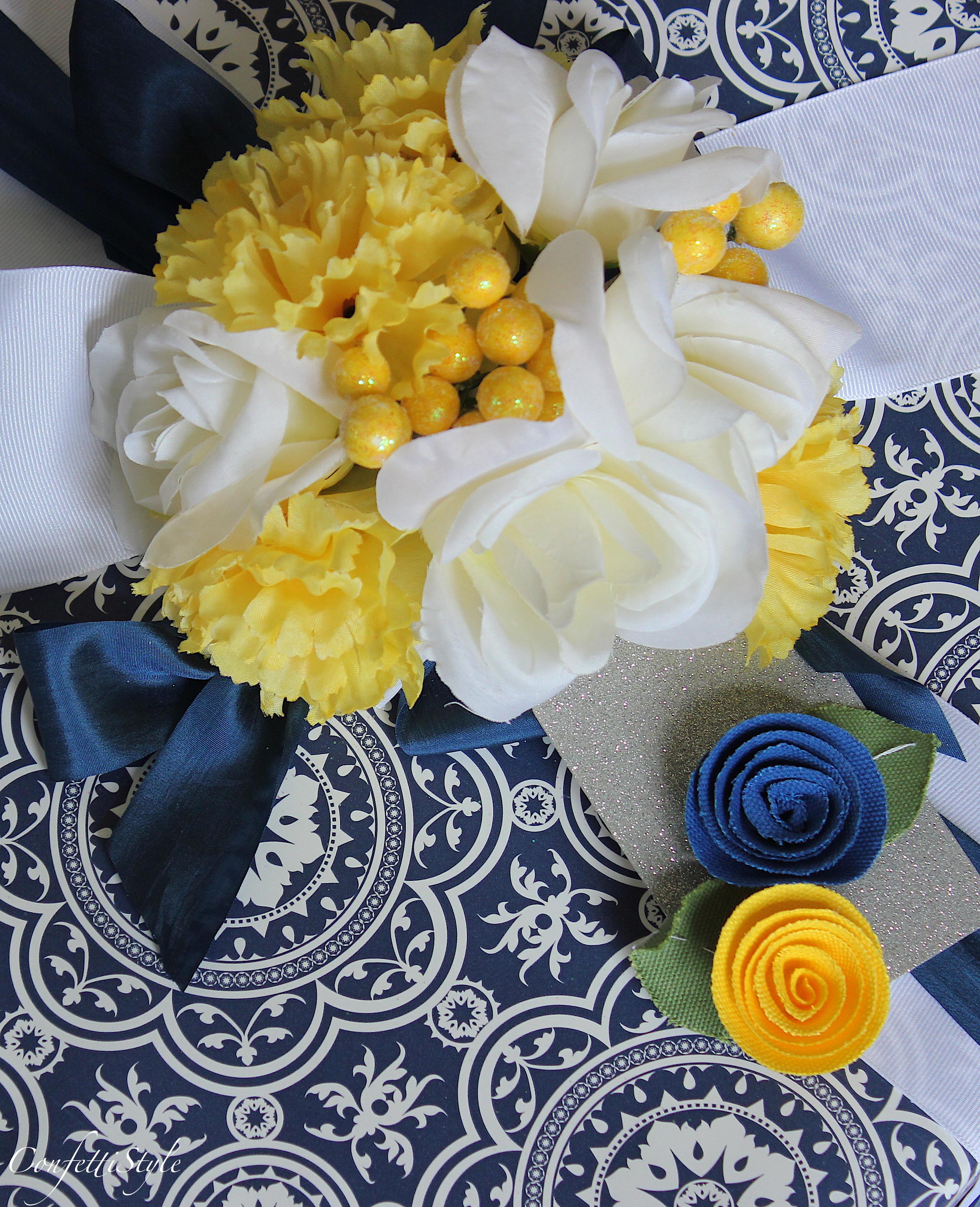 Wedding Gift Wrap Etiquette: Gift Wrap Inspiration: Blue, Yellow & Silver Wedding Wrap