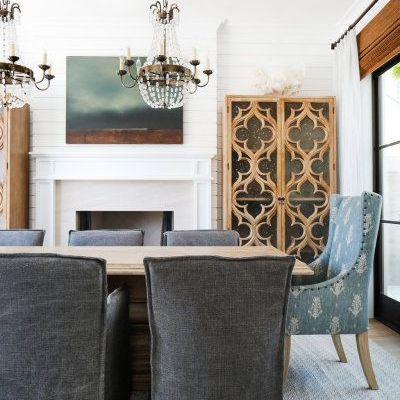Design Idea:  Contrasting King & Queen Dining Chairs