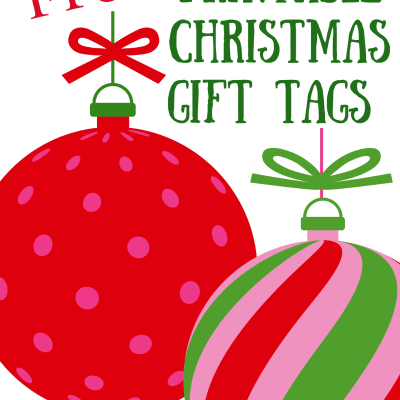Free Printable Merry & Bright Gift Tags