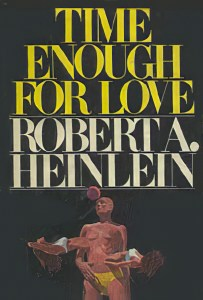 """Time Enough for Love"" book cover"