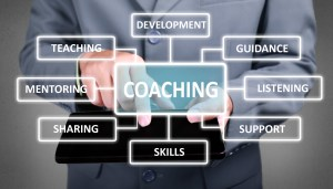 Graphic showing various aspects of coaching