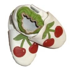 chaussons-cuir-bebe-souple-cerise