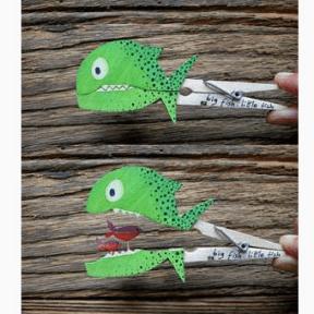 poissons verts