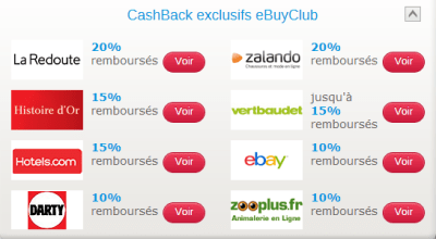 Exemple de cashback