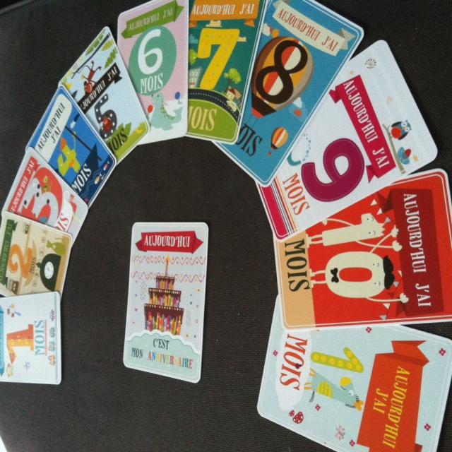 Découverte du Kit des cartes étapes de bébé #Concours