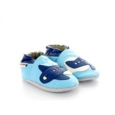 chaussons-bebe-en-cuir-souple-avion-bleu