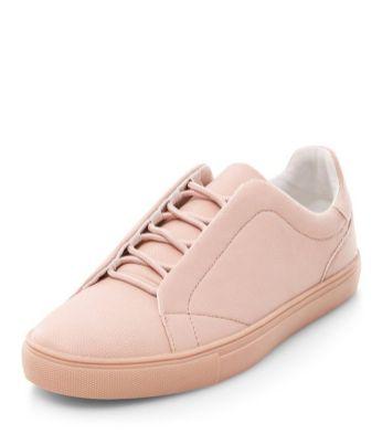baskets-roses-à-lacets