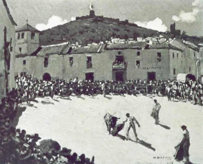 Capeas en el casco histórico de Jimena, comienzos del siglo XX
