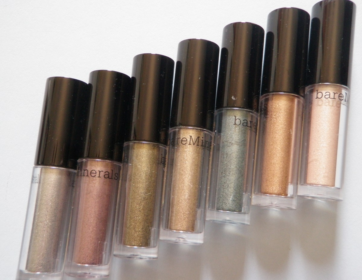 Bare Minerals High Shine Eyecolor Swatches And Review