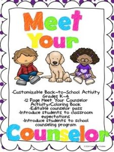 Meet Your Counselor: Back to School Coloring Book Activity