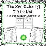 Zen Coloring To Do List