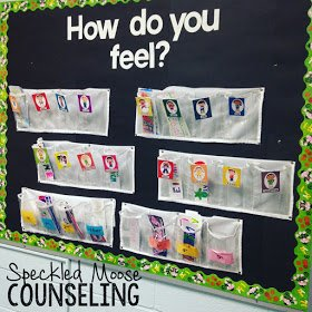 Feelings Bulletin Board from Speckled Moose Counseling