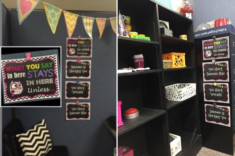 Counselor Confidentiality Signs are a school counseling office must-have
