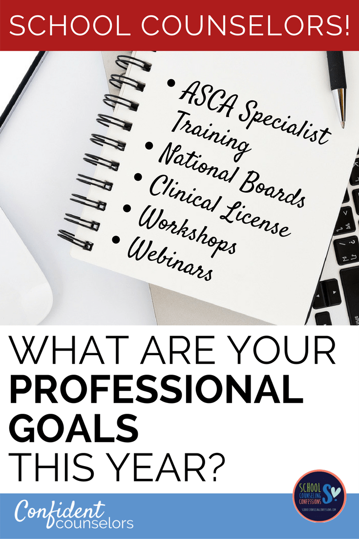Meet your school counseling professional goals by considering workshops, specialist training, national board certification, or clinical licensure.