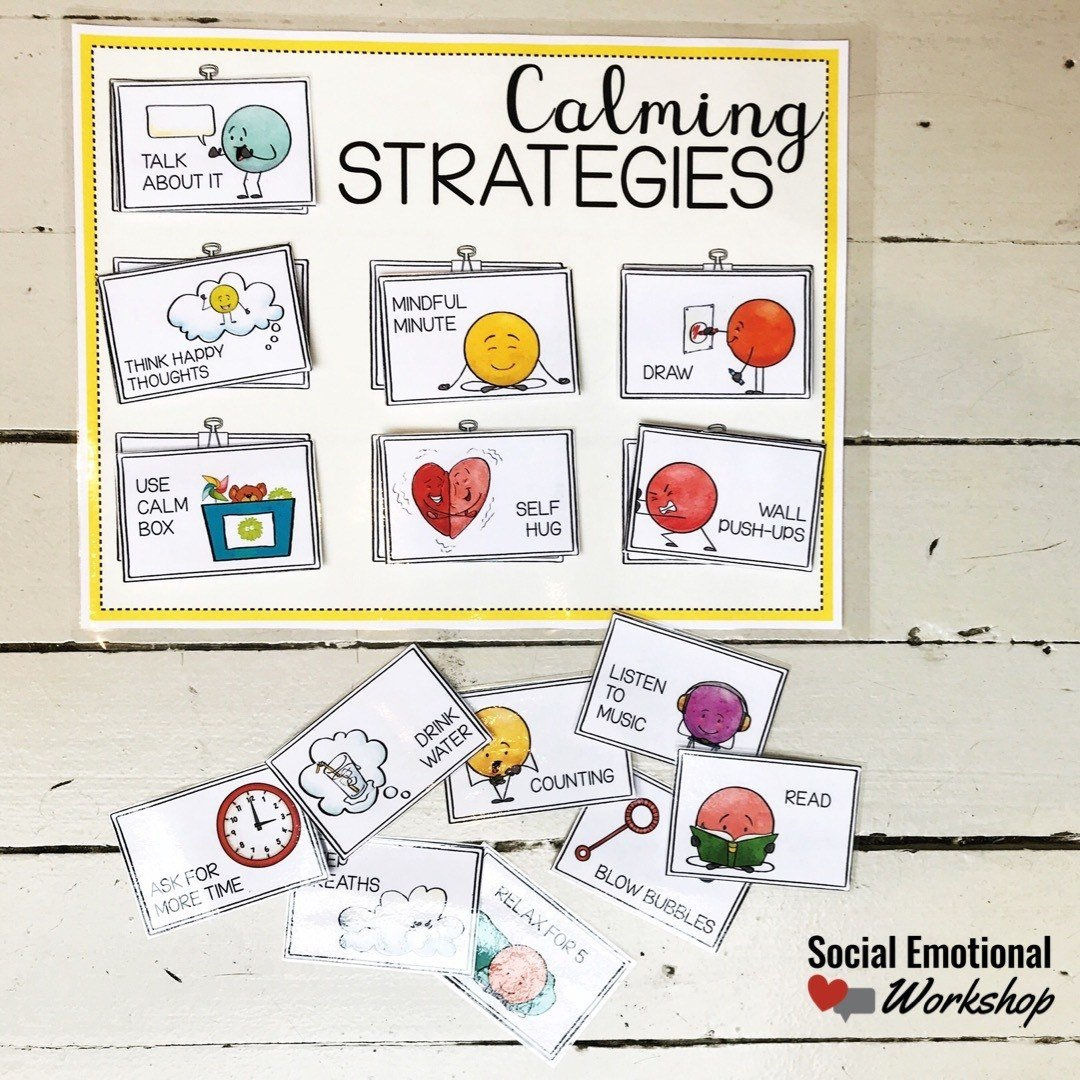 calming strategies poster