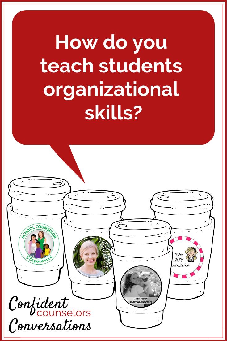 teaching organizational skills to students.
