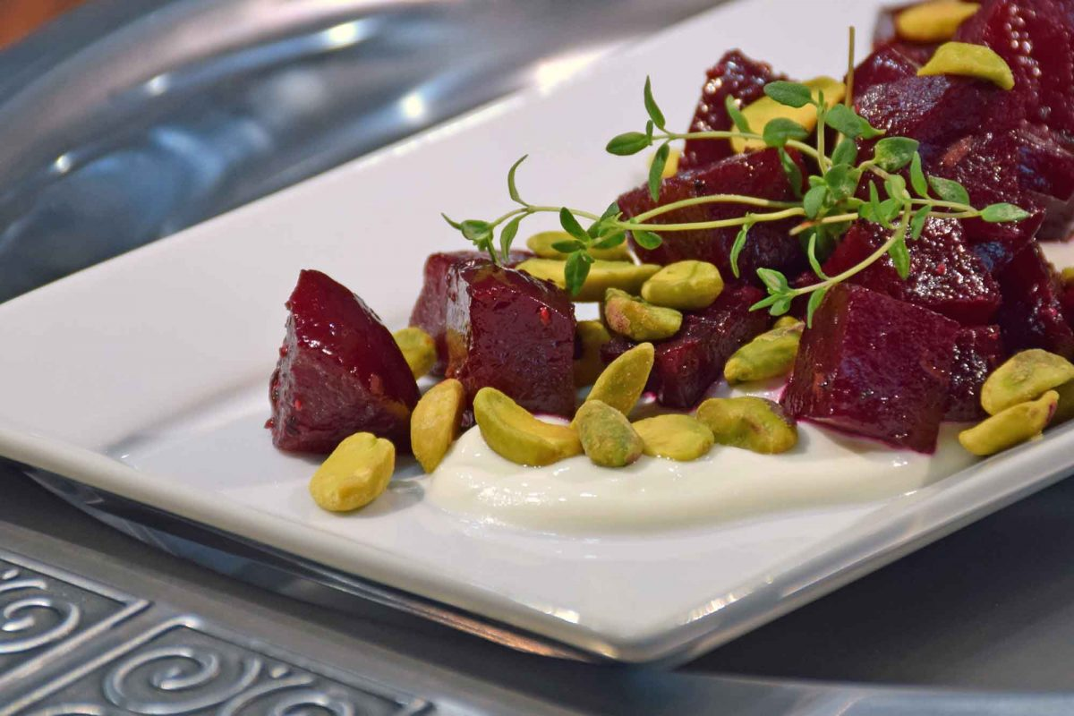 Baked Beets With Pistachios Recipe