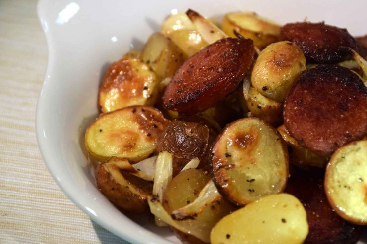 Roasted Kielbasa and Potatoes Recipe-Confident in the Kitchen-Jean Miller