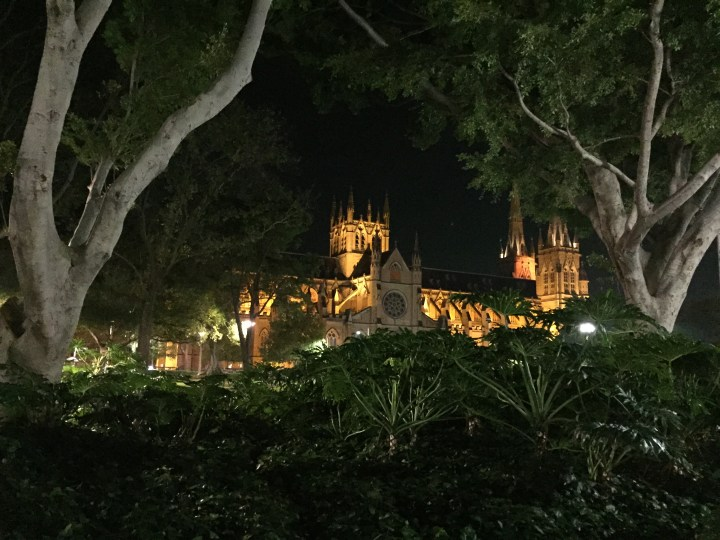 St. Mary's Cathedral in Hyde Park, Sydney, Australia