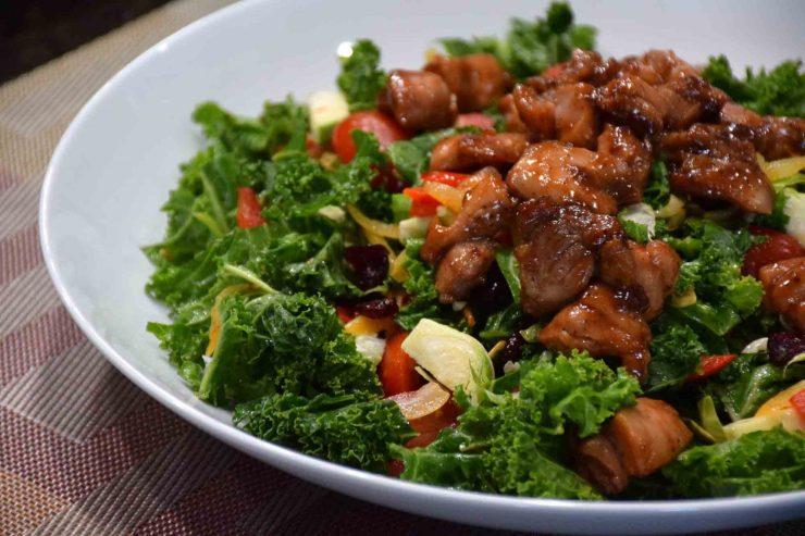 Kale with Glazed Chicken Recipe-Confident in the Kitchen-Jean Miller