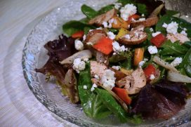 Baby Spinach Feta Salad Recipe-Confident in the Kitchen-Jean Miller