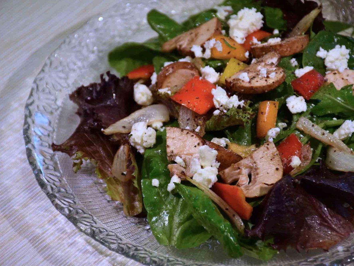 Baby Spinach Feta Salad