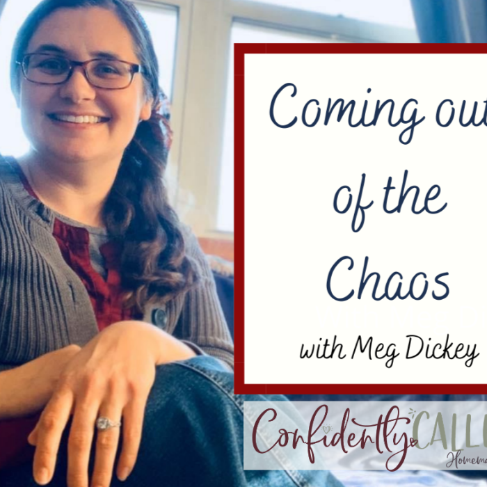 Coming Out of the Chaos with Meg Dickey