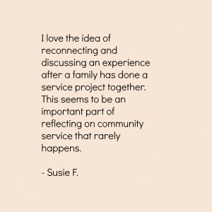 Susie on Service and Reflection