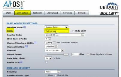 Configurar el software del SO del Access Point