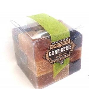 PATES DE FRUIT ARTISANALES -Parfums assortis – Maître Confiseur d'Auvergne -Ballotin cube 370g