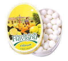 ANIS DE FLAVIGNY –  BONBONS EXTRAIT DE CITRON – boite ovale 50 g – Anise candies