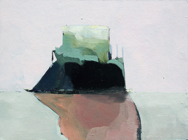 Sonya Berg, Floater, 2012, oil, acrylic, graphite on panel, 6 x 8 inches