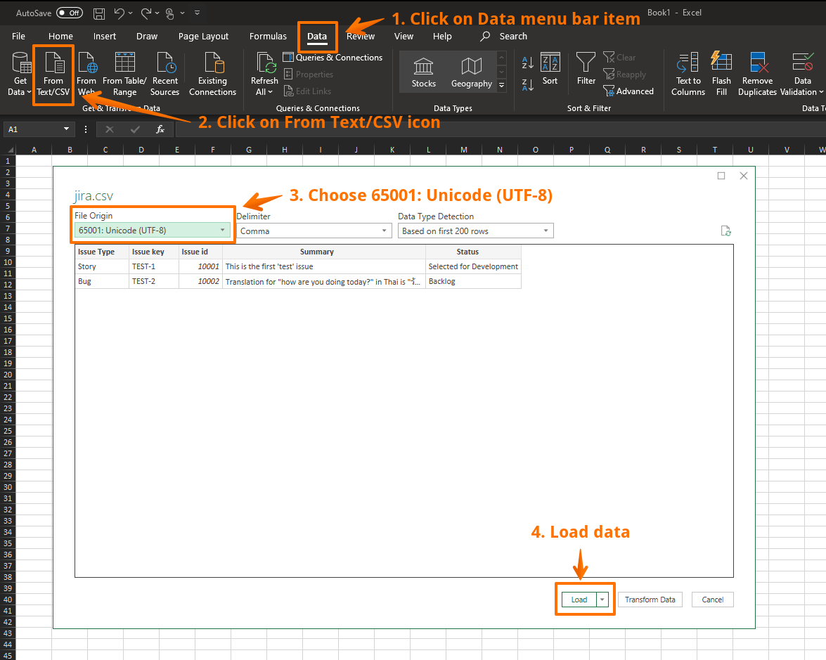 Exported Csv Does Not Display Properly In Excel That