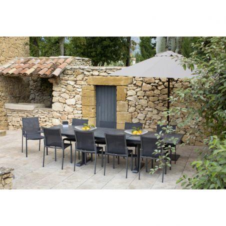 table extensible koton 200 300 x 102 x 75 cm plateau ceramique ardoise les jardins