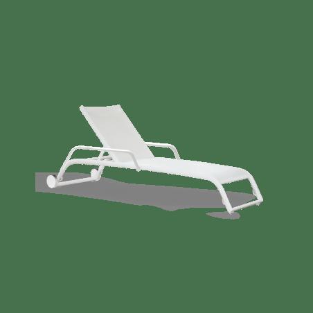 bain de soleil empilable duo avec roues et accoudoirs triconfort