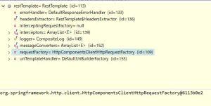 Spring BootでRestTemplateのClientHttpRequestFactory実装クラスをHttpComponentsClientHttpRequestFactoryに変更する