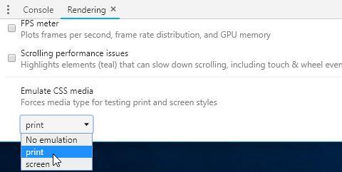 Chromeでmedia printを確認・デバッグする方法