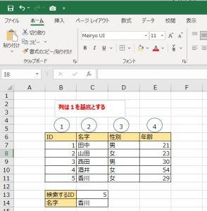 Excelでvlookup関数を使う