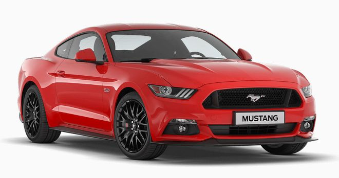 Ford mustang rossa